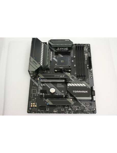 SALE OUT. MSI MAG B550 TOMAHAWK MSI MAG B550 TOMAHAWK Processor family AMD, Processor socket AM4, DDR4, Memory slots 4, Chipset AMD B, ATX, REFURBISHED WITHOUT ORIGINAL PACKAGING AND ACCESSORIES BACKPANEL INCLUDED