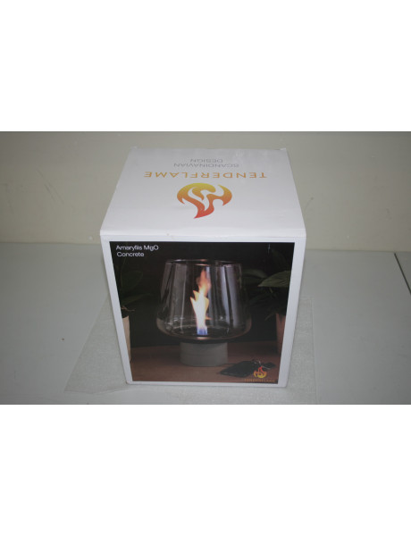 SALE OUT. TenderFlame, MgO, Amaryllis 3W Tenderflame Table fireplace Amaryllis 3W MgO Transparent, USED, DIRTY