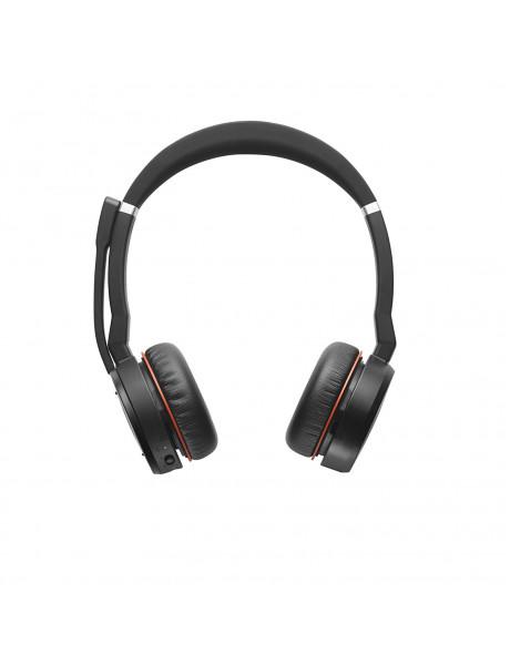 Jabra EVOLVE 75 Black, Headset, Bluetooth, Microphone mute, Noise-canceling, 177 g
