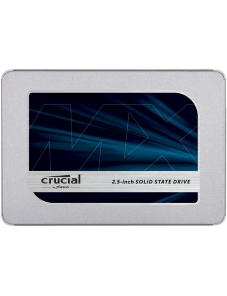 Crucial MX500 500 GB, SSD interface SATA, Write speed 510 MB/s, Read speed 560 MB/s