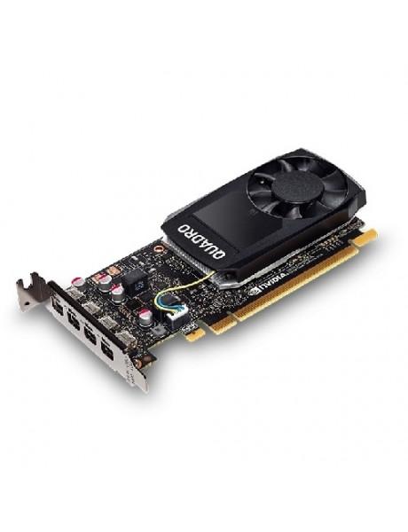 Dell NVIDIA, 4 GB, Quadro P1000, GDDR5, PCI Express 3.0, 4 mDP