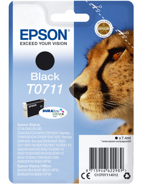 Epson T0711 Ink Cartridge, Black