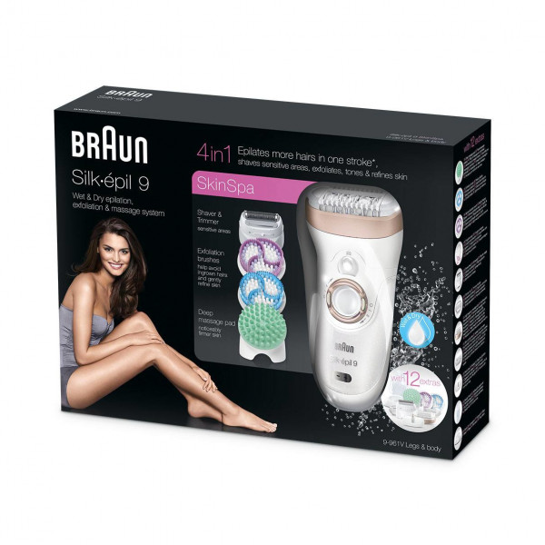 Braun 9-961V Operating time 40 min, Cordless, Number of intensity levels 2, Number of speeds 2, White, Accumulator