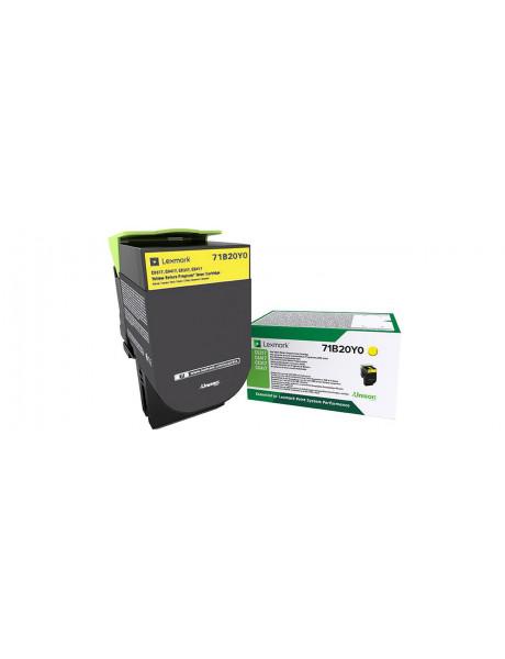 Lexmark 2,3K Yellow Return Program Toner Cartridge (CS/CX317,417,517)