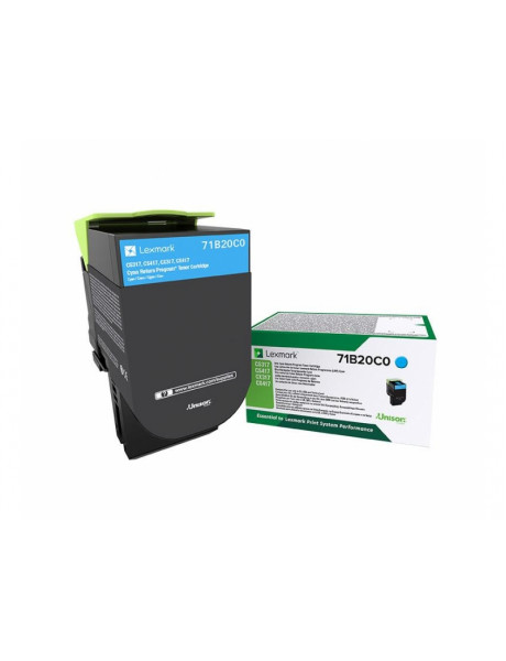 Lexmark 2,3K 2,3K Return Program (CS/CX317,417,517) Toner cartridge, Cyan